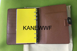 Wholesale Agenda card notebook book cover leather diary leather with dust bag and box card notebook hot style