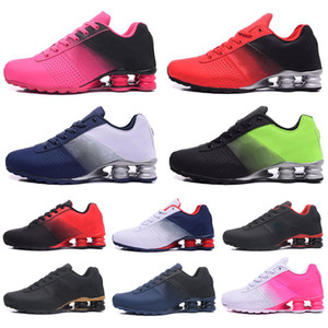 Wholesale New Shox Deliver Mens Women Running Shoes DELIVER OZ NZ Mens triple black white red Sneakers Sports trainer