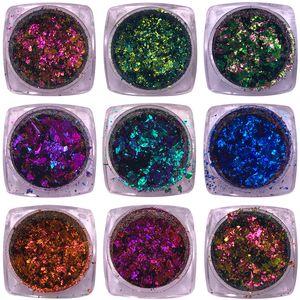 1 Box 0.2g Irregular Chameleon Sequins Glitter Colorful Flakies Powder Paillette Manicure Nail Art Decoration