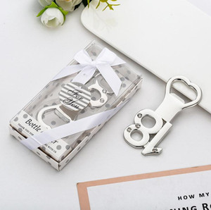 Wholesale anniversary ideas gifts for sale - Group buy 100PCS th Bottle Opener th Year Anniversary Keepsake th Birthday Favors Giveaways Party Gifts Ideas Beer Cap Opener SN3345