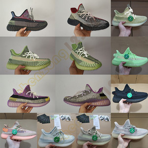 Wholesale Yecheil Yeehu Kanye West Newest Designer Sneakers Yeshaya Citrin Cloud White Black Reflective Glow Green Sports Running Shoes Box Stockx Tag