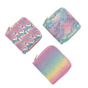 Wholesale Fashion Kid Short Wallet Colorful Women Zipper Purses Clutch Leather Wallets Card Holder Money Clip Coin Purse Student Money Bag BC BH1628