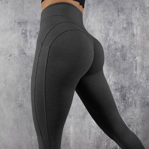 Leggings High Quality High Waist Push Up Elastic Casual Leggings Fitness Women Sexy Sports Pants Body Building Yoga Legging C19032801 on Sale