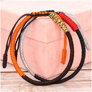 Wholesale bracelet forms for sale - Group buy Tibetan Manual Weave Peter Jackson s King Kong Form Five Colour Lucky Red Rope Bracelet Hand Rope Nation Wind Ornaments