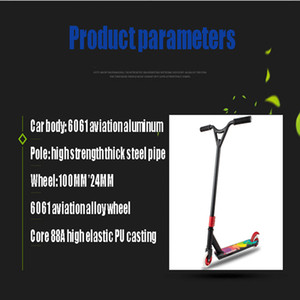 scooters pro al por mayor-Venta al por mayor Pro Stunt Scooter Freestyle Street Surfing Kick Scooter Trick Skatepark BMX Manillares Professional Extreme Sports Scooters