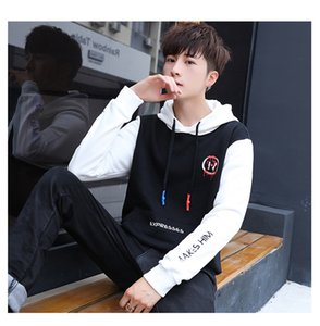 Wholesale 25 Men s Hat and Guard Clothes Spring and Autumn Student Leisure Sports Suit Men s Korean Chaozhou Youth Port Loose Clothes