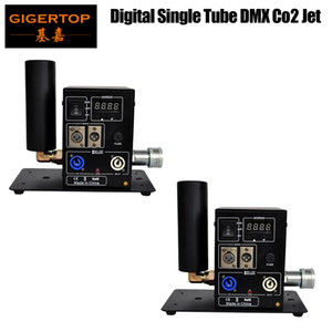 Best Quality 2 x LOT Single Side Pipe Co2 Machine Portable Stage Effect Equipment Swing Jet LCD DMX Digital Address Setting Power in out Con