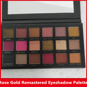 Wholesale makeup platte resale online - Hot New Makeup Rose Gold Remastered Eyeshadow platte Limited Edition colors matte lipsticks with gift