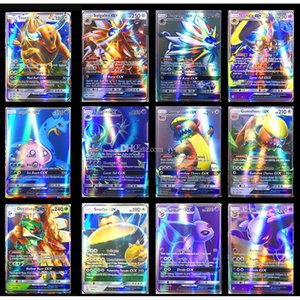 wholesale Flash Trading Card XY GX MEGA English pokemons Cards EX Charizard Venusaur Blastoise Kids Gift Figures Card Games Toy