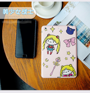 Wholesale Cute girl protective cover for iPad mini1234 air air2 pro9 quot pro10 quot New material case silicone shell tablet computer case