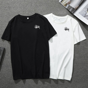 Wholesale 2019 Limited Provide Men s Women Top STUSS Fashion Cat T Shirts Polos O Neck Cotton Slim Fit Comfortable White Black For Sale Cheap Tshirt