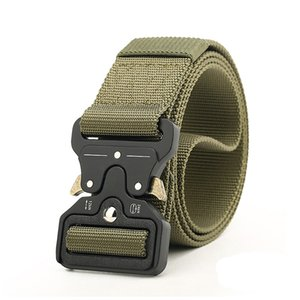 Wholesale Outdoor men Tactical belt Nylon Army Metal Buckle Waist belt for men Quick release Heavy duty strap Military adjustable belts cm width