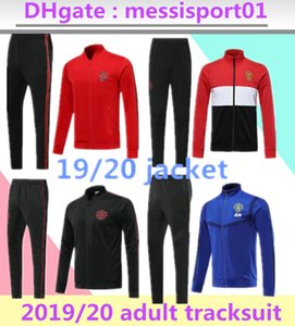 Wholesale 2019 manchester tracksuit Survetement VESTE POGBA football JACKET kit Soccer Chandal LUKAKU UNITED full ZIPPER sweater suit