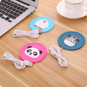 Wholesale Hot USB Power Silicone Cartoon USB Office Coffee Tea Milk Cup Warmer Pad Mat USB Warm Coasters