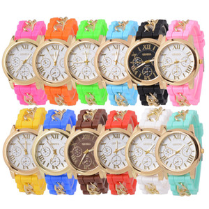12 Pack Wholesale Men Women Children Silicone Band Analog Watch Jelly Tone Quartz Party Dress Wristwatches Birthday Christmas Gift Set