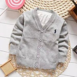 Wholesale 2019 Fashion New Kids Sweater Autumn Children Polo Cardigan Coat Baby Boys Girls single breasted jacket Sweaters outer wear d