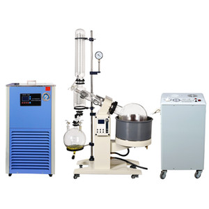 ZOIBKD New 20L Lab EX Rotary Evaporator Set w Vacuum Pump and vacuum controller & 30 30 Chiller