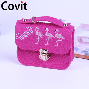 Wholesale Mini bag keychain new flamingos zero leather wallet key ring purse woman car key chain small purse child student cm