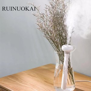 Wholesale RUINUOKAI White Dismountable Donut USB Humidifier Portable Ultrasonic Mist Maker Aroma Diffuser for Home Office Air Humidifiers