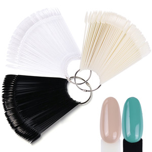 Wholesale polish nails for sale - Group buy False Nail Tips Color Display Fake Nails Round Fan Board Styles Art Gel Polish Tools Set Manicure Training Tra23