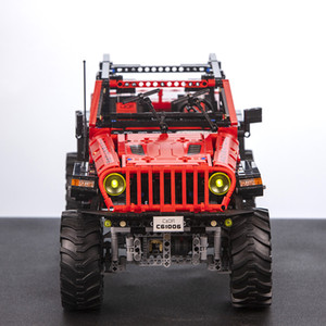CaDA C61006 Remote Control Jeep Wrangler Adventurer Vehicle Off-Road RC Cars 1941PCS with LED Lights Motor Power Toys Christmas Gifts