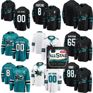 Wholesale 2020 All Star Men Women Kids Custom San Jose Sharks 88 Brent Burns 8 Joe Pavelski Martin Jones 19 Thornton 39 Couture 48 Hertl Hockey Jersey