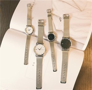 Wrist Watch Schoolgirl Korean Concise Leisure Time Atmosphere Trend Fashion Metal Watchband Silver Chain Quartz Woman Surface Thinning