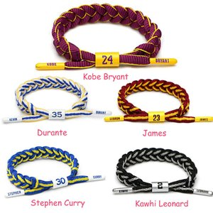 Basketball Star Memorial Bracelet Running Sports Wrist Strap Mens And Womens Adjustable Bracelet Holiday Gifts wholesale Sport Accessories