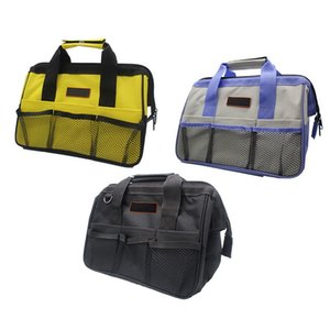 Wholesale canvas nylon tool bags resale online - 1pc Cheap Multifunction Nylon Canvas Storage New Oxford Waterproof Double Cloth Portable Bags Close Top Wide Mouth Bag Tool Lmtww