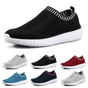 Wholesale Best selling large size women s shoes flying woven sneakers one foot breathable lightweight casual sports shoes running shoes one
