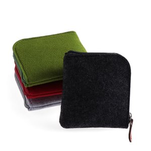 Wholesale 1pc New Women Girls Felt Coin Purses Mini Wallet Square Change Bag Organizer Girls Zero Bag Pouch Business Card Holder