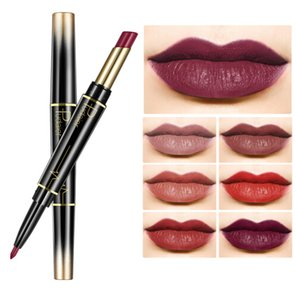2 In 1 Lip liner Pencil Double-end Waterproof Nude Color Sexy Lipstick Pencil Long-lasting Women Makeup rossetto
