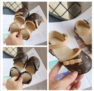 Children Shoes Butterfly-Knot Hook&Loop Girls Dress Party Princess Shoe Kids School Wedding Single Shoes