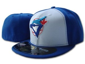 Wholesale Best Selling Price Classic White Blue Color On Field Baseball Fitted Hats Fashion Hip Hop Sport Blue Jays Full Closed Design Caps