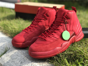 Wholesale buying sports shoes for sale - Group buy To Buy Gym Red Black Basketball Designer Shoes New Fashion XII Suede Bulls Custom Sports Sneakers Good Quality With Box