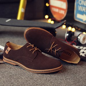 Wholesale snakers shoes resale online - Shoes England Trend Casual Shoes Male Suede Oxford Leather Dress Shoes Zapatillas Men Flats Plus Big Size Snakers Man Brand Men
