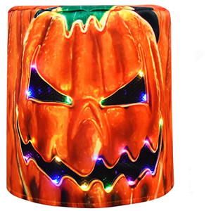 Wholesale LED Halloween Pumpkin Mask Cosplay Headgear Bar Props Party Hat Funny Full Face Night Light Mask New Helmet Ghost Festival