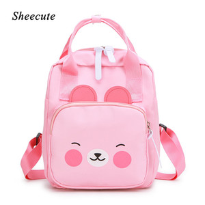 Wholesale Children School Bags Cute Cartoon Yellow Duck Pink Kindergarten School Bag Boys and Girls Baby Backpack Kids Bags
