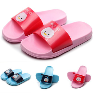 Wholesale Toddler Infant Kids Baby Boys Cartoon Duck Animal Print Soft Bottom Comfortable Slipper Sandals kids shoes sandals for girls
