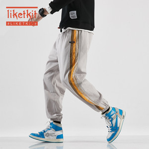 Liketkit Mens Casual Harem Pants 2020 Spring Side Striped Joggers Sweatpants Male Oversized Japanese Streetwear Cotton 100 % 5XL