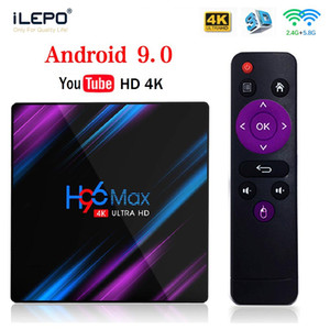 android box google play toptan satış-Android TV Kutusu H96 Max Rockchip RK3318 Dört Çekirdekli CPU GB GB GB K Google Play Streaming Media Player