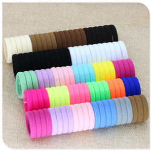 Wholesale New Girl elastic hair bands Black White Hair accessories Gum For Hair ponytail Rubber Bands holder gumki do wlosow isnice