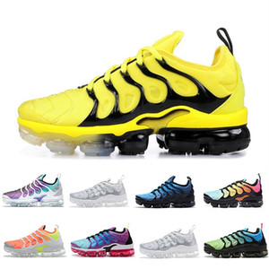 Wholesale Tn Plus Triple Yellow Black Running Shoes Women Mens Trainers Grape Game Royal Bright Crimson USA Blue Photo Designer Sneakers Size US