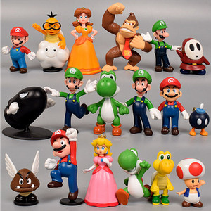 Wholesale Super Mario Action Figures Styles New Cartoon game Super Mario Yoshi Action Figures christmas Gift For Kids