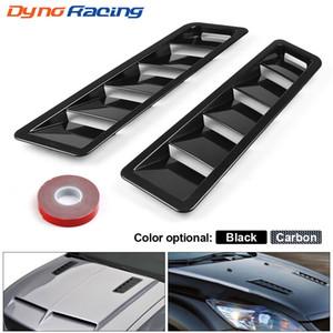 17X5 Inch Universal Car Air intake Scoop Bonnet Hood Vent Louver Cooling Panel Trim Set Matte Black ABS 2PCS