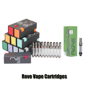 Rove Vape Cartridges Pyrex Glass Tank Featured Farms Green Carts 0.8ml 1.0ml Ceramic Coil Thick Oil Atomizer For 510 Preheat Battery on Sale