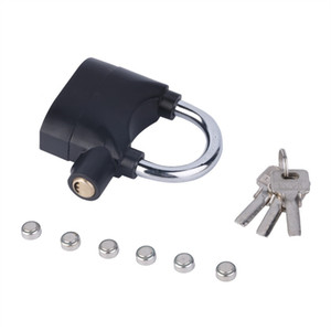 Black Waterproof Siren Alarm Padlock Alarm Lock for Motorcycle Bike Bicycle Perfect Security with 110dB Pad locks Hot Sale #26195
