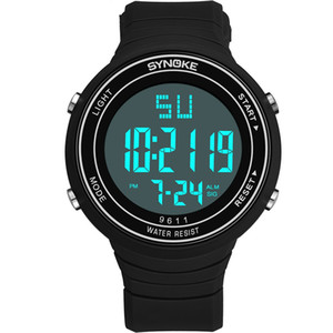 Wholesale New electronic watch outdoor sports multi-function trend large screen fashion simple convenient watch for men students