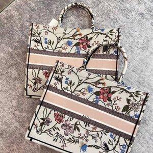 2020 New Color Fashion shopping bag women canvas Embroidery handbag large tote book bag luxury Ladies tote Handbag Shoulder Bag free shippin