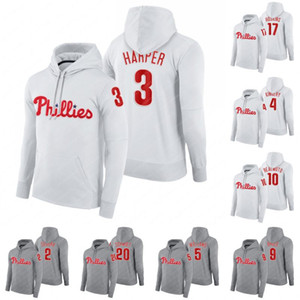capuz e jeans  venda por atacado-Philadelphia Hoodie Bryce Harper Jean Segura Scott Kingery Nick Williams Jay Bruce JT Realmuto Rhys Hoskins Mike Schmidt Sweatshirt Baseball